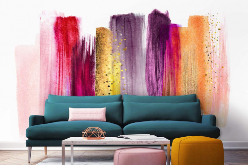 Papier peint salon Tempo