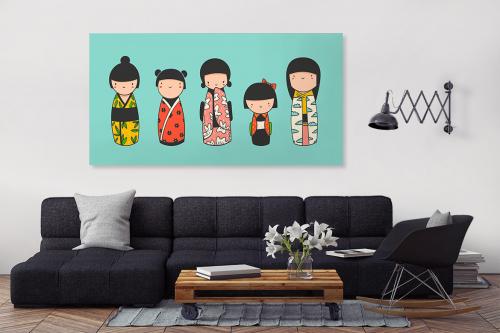 Tableau famille japonaise