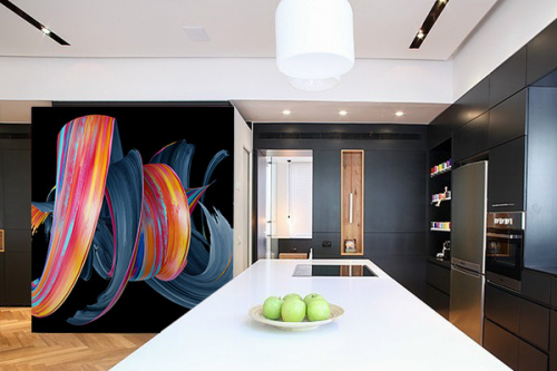 Papier peint vinyle Tourbillon Coloré abstrait