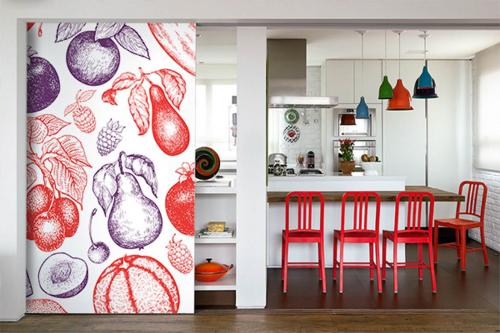 Papier peint cuisine Fruits exotiques