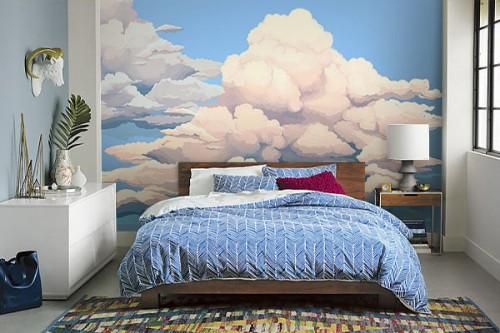 Papier peint nuage illustration