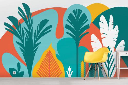 Papier peint forêt Tropical forêt scandinave