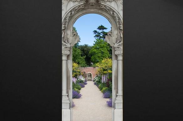sticker trompe l'oeil jardin anglais