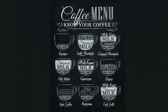 Tableau noir et blanc Café