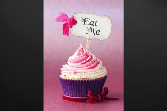Tableau déco cup cake fraise
