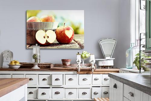 déco murale cuisine pomme amour