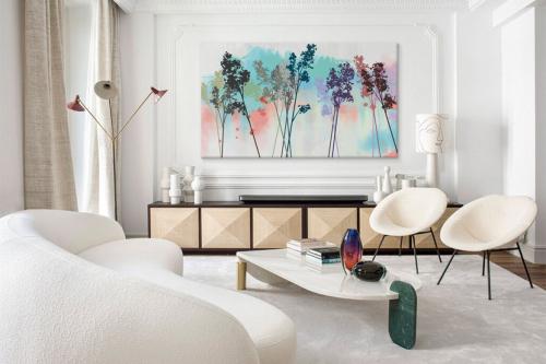 tableau salon paysage colorama