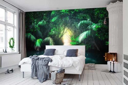 papier peint panoramique chambre Lagon