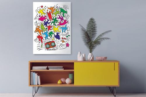 Tableau pop art Bonhommes dansants