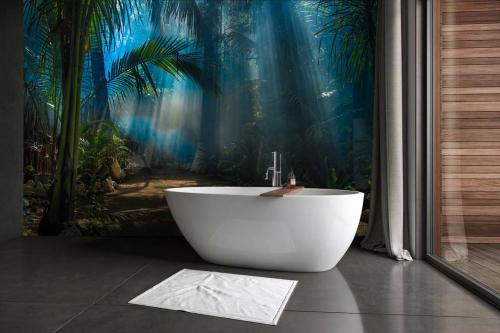 Papier peint jungle salle de bain Au cœur de la jungle