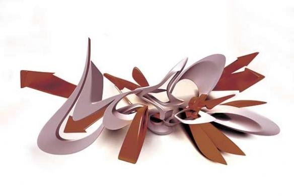grande décoration Tableau abstrait moderne Directions