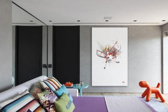 Décoration zen avec le tableau carpe