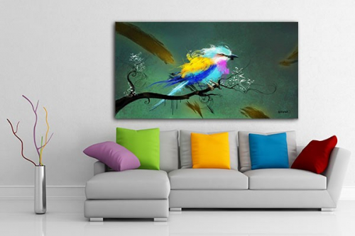 tableau design xxl oiseau izoa. Black Bedroom Furniture Sets. Home Design Ideas