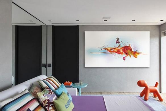 Tableau design Poisson Rouge par Yann Wallaert