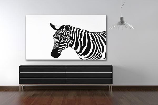 Tableau décoration Zebre
