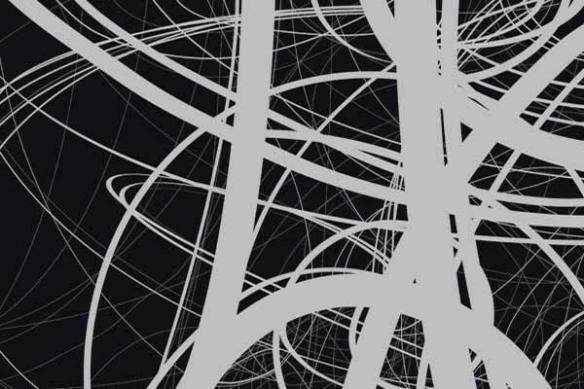 Toile abstraite noir et blanc Draft by Vain