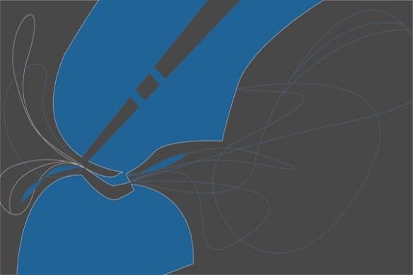 Tableau abstrait design Strange Shape