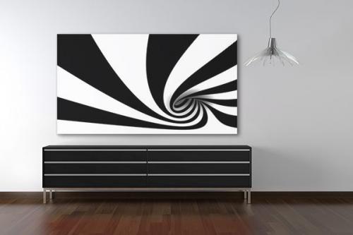 Tableau abstrait Cyclone
