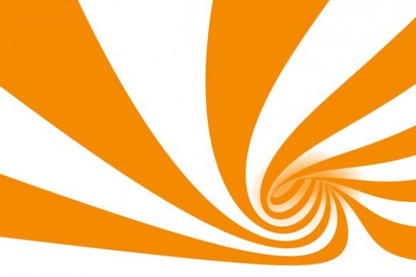 poster mural deco abstrait Cyclone orange