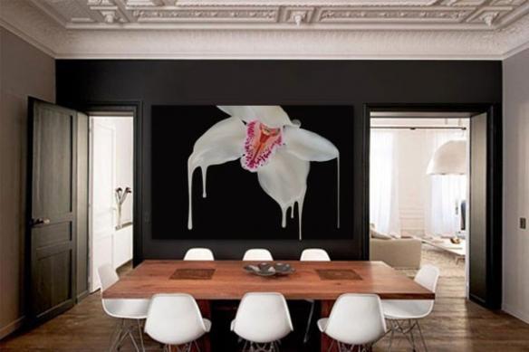 Tableau déco murale design Orchidée