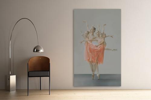 Tableau déco murale design danseuses Ballerine