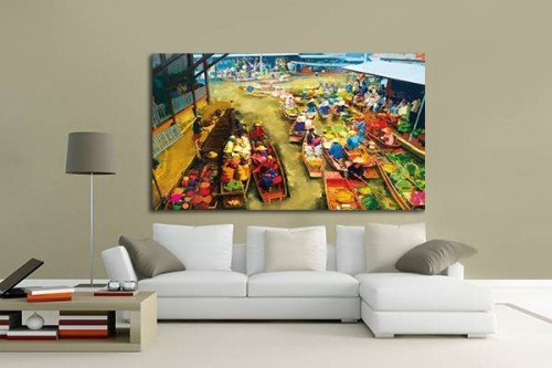 Tableau color izoa for Decoration murale tableau quebec