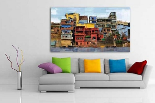 Decoration murale vente de tableaux design de paysages de new york paris - Tableau de decoration moderne ...