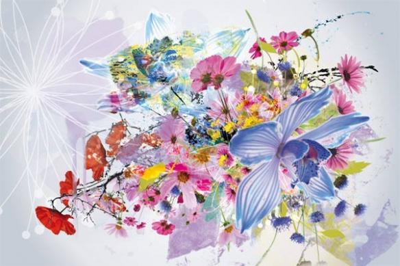 Tableau décoration moderne floral orchidée