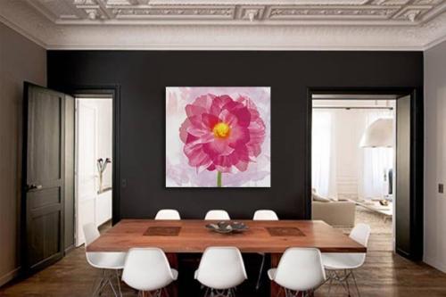 tableau déco floral contemporain