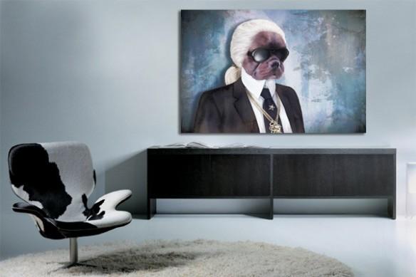 Tableau moderne Karl Dogerfeld par D. Lindner