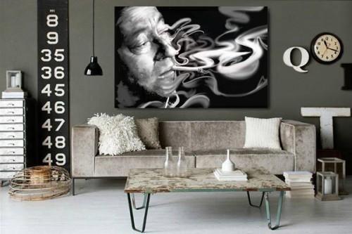 Tableau déco Serge Gainsbourg par D. Oztel