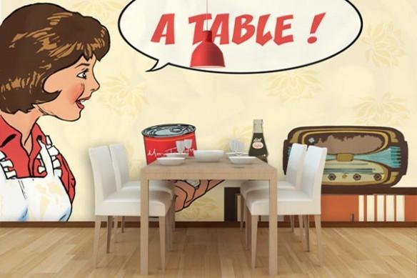Papier Peint design à table
