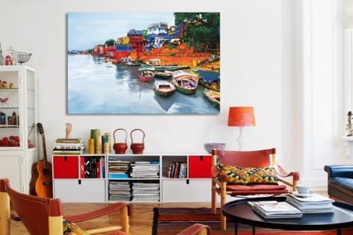 Tableau déco Le Gange par D. Lindner