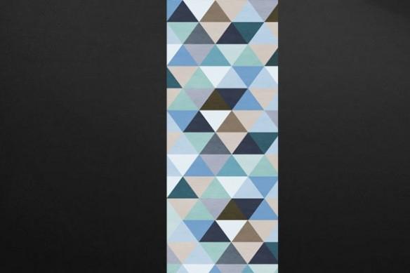 Papier peint scandinave Illuminati bleu