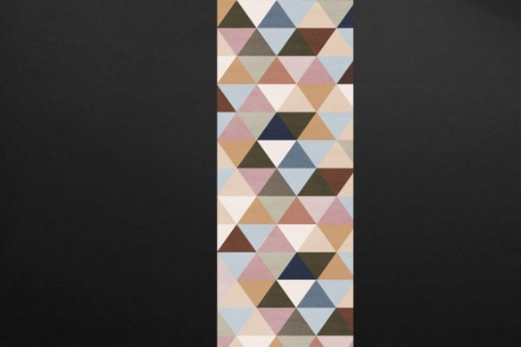 Papier peint chambre Illuminati marron