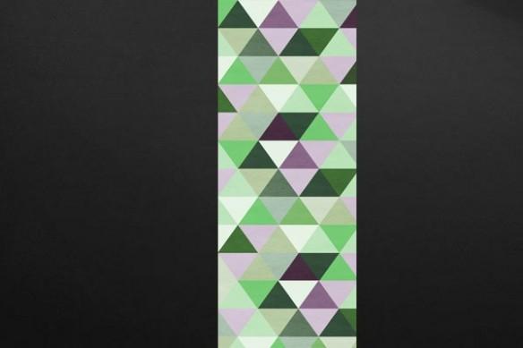 Papier peint géométrique Illuminati vert