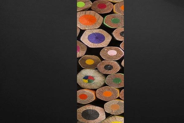 panneau d coratif mural crayons d co chalet. Black Bedroom Furniture Sets. Home Design Ideas