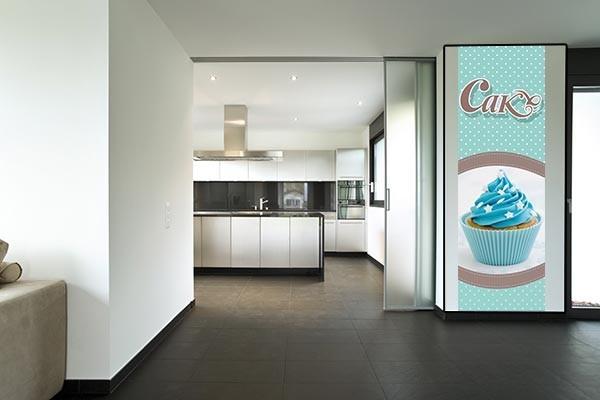 papier peint vintage cupcake izoa. Black Bedroom Furniture Sets. Home Design Ideas