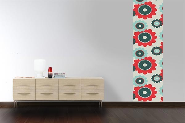 papier peint design fleurs hippies izoa. Black Bedroom Furniture Sets. Home Design Ideas
