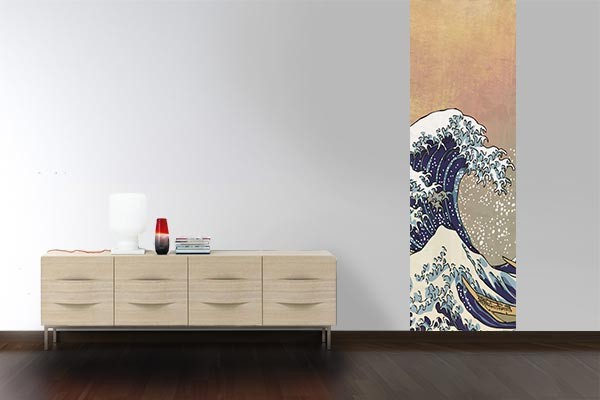 papier peint mural tsunami izoa. Black Bedroom Furniture Sets. Home Design Ideas