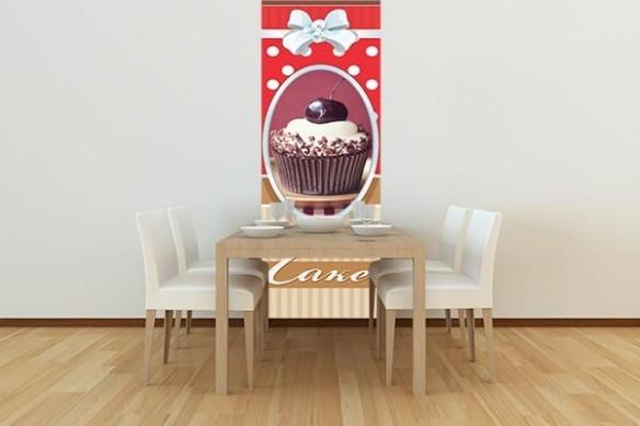 frise murale cuisine Gâteau sur la cerise