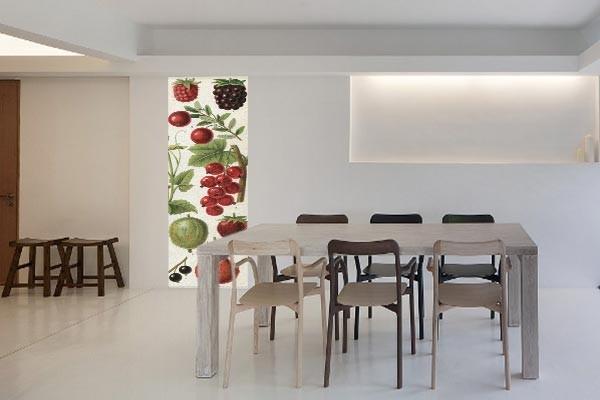 papier peint salle manger r tro fruits vintage. Black Bedroom Furniture Sets. Home Design Ideas