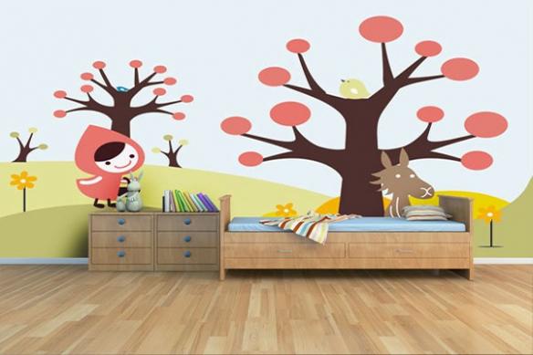 Papier Peint décoration le petit chaperon rouge