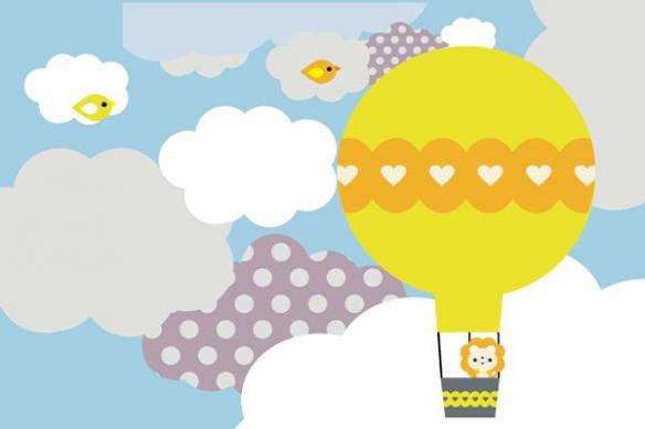 Papier peint la tête dans les nuages