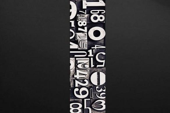 Papier peint Design Numéros