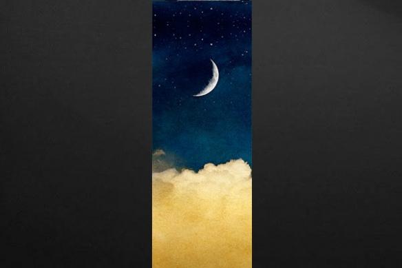 deco mur zen Pierrot et la Lune