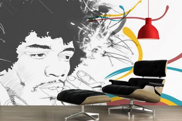 Papier Peint design J Hendrix par M. Gazaix