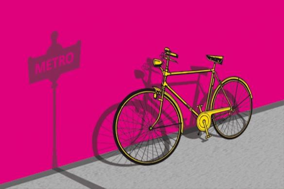 Tableau toile vélo déco