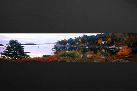Papier peint Photo Lac d'Automne