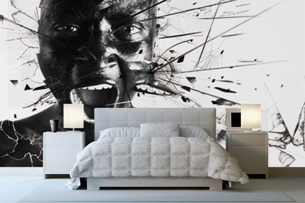 papier peint design le cri izoa. Black Bedroom Furniture Sets. Home Design Ideas